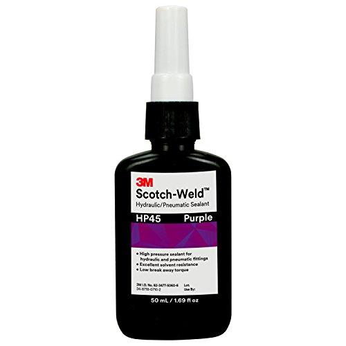 3M Scotch-Weld Hydraulic/Pneumatic Sealant HP45, Purple, 50 mL Bottle
