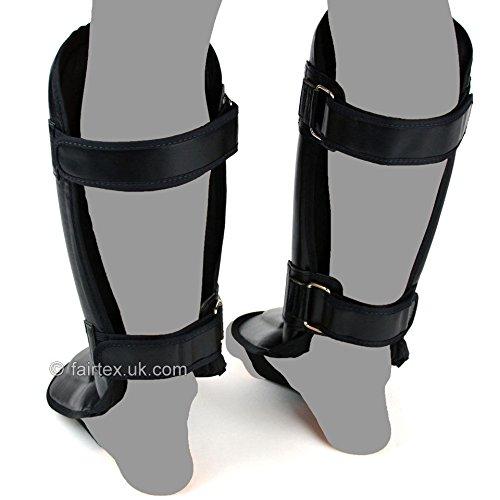 Fairtex Shin Guards Black Double Padded Shin Pads SP3 Kickboxing Muay Thai MMA Sold by MinotaurFightStore