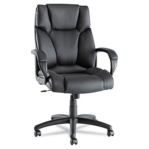- Alera ALEFZ41LS10B Fraze Series High-Back Swivel/Tilt Chair, Black Leather