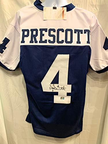 Dak Prescott Dallas Cowboys Signed Autograph Thanksgiving Day Custom Jersey JSA Witnessed ()