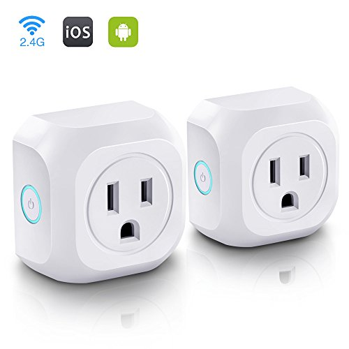WiFi Smart Plug Mini Wireless Smart Plug Socket Outlet, No Hub Required, Timing Function Remote Control Your...