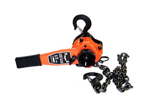 (KCHEX>3/4 TON Lever Block Chain Hoist Ratchet Type COMEALONG Puller Lifter>A Double Series Lever Block are Made of Superior Steel, WHICH HAS The Following Characteristics in Design and Service. Safe)