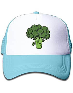 Classic Broccoli Baseball Cap Adjustable Trucker Hat For Children
