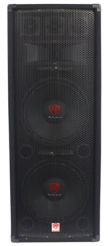 "Rockville Dual 12"" 2000 Watt 3-Way 8-Ohm Passive DJ/Pro Audio PA Speaker (RSG12.2)"