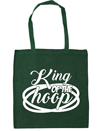 HippoWarehouse King de la aro Tote Compras Bolsa de playa 42cm x38cm, 10litros verde oscuro