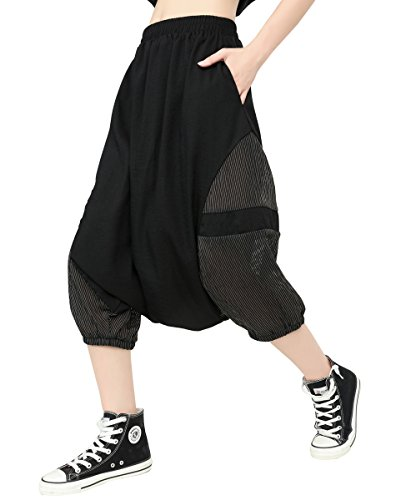 Waist Pants Ellazhu Fashion Black Women Drop Elastic Crotch A Gy1690 Harem q0taF0wx