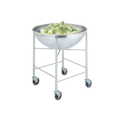 S/S Mobile Bowl Stand w/ 80 Qt S/S Round Bottom Mixing Bowl, 30x32x32 ()