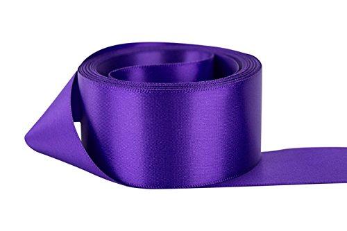 (Ribbon Bazaar Double Faced Satin 5/8 inch Regal Purple 50 Yards 100% Polyester Ribbon)