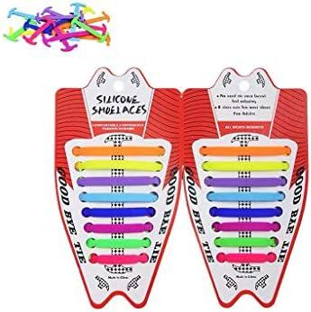 男の子と女の子のための怠zyなレース無料レースシリコンレースを支援するために高いネクタイ靴ひもレース人格 (Color : Multi-colored, Size : Free Size)