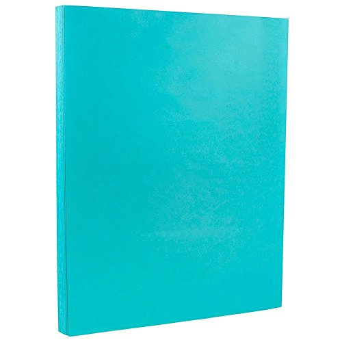 JAM PAPER Colored 24lb Paper - 8.5 x 11 Letter - Sea Blue Recycled - 100 Sheets/Pack