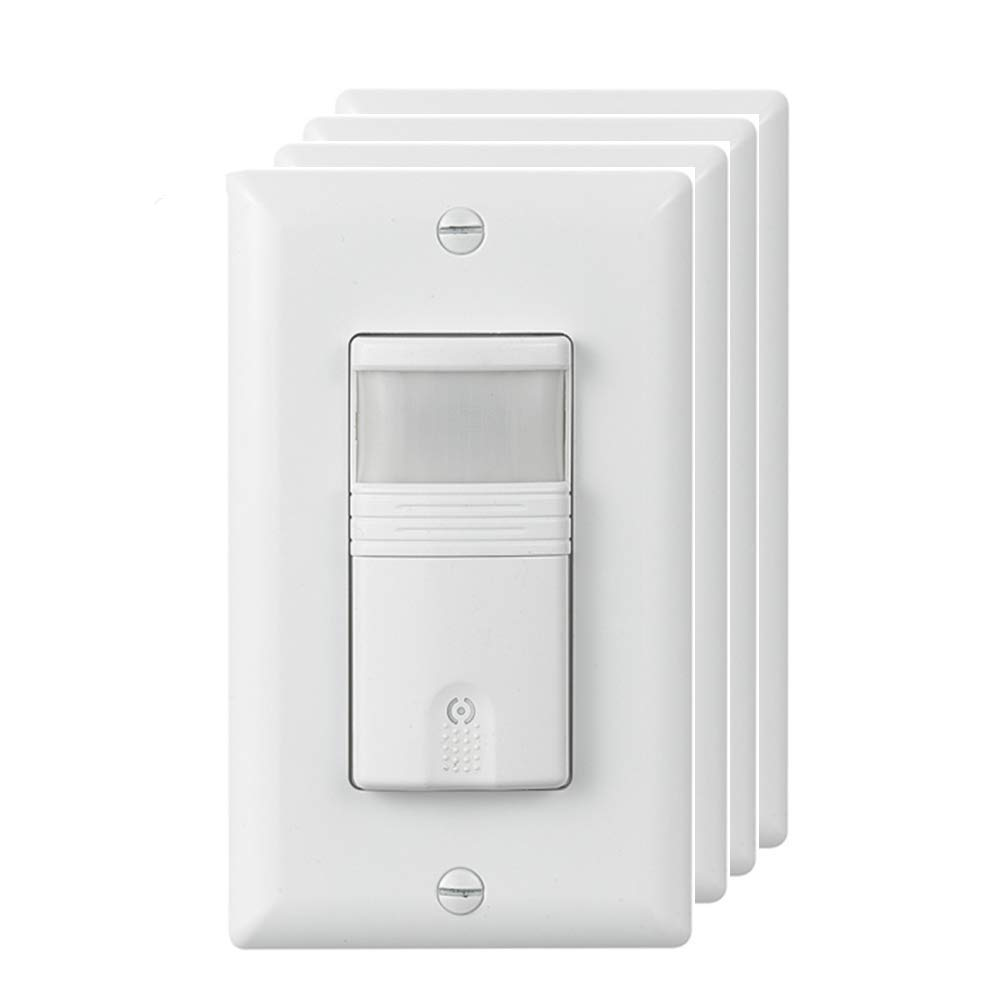 ECOELER Motion Sensor Wall Switches, PIR Occupancy Sensor Light Switch, Adjustable Motion-Activated