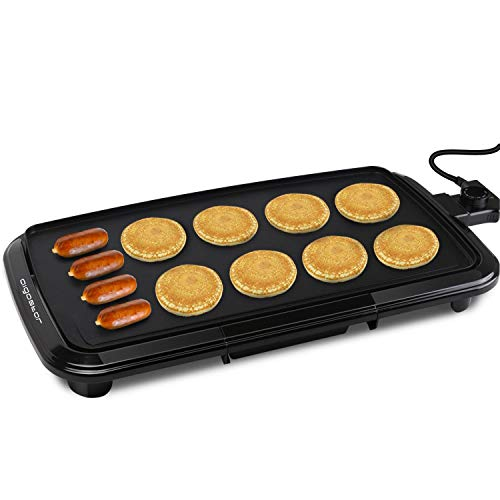 Aigostar Varmo Nonstick Electric Griddles - Pancakes Griddle Grill with Drip Tray, 10