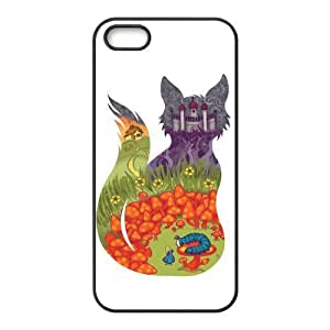 Custom Freehand Cartoon Girl Design Rubber TPU Case for Iphone 5 5S by supermalls