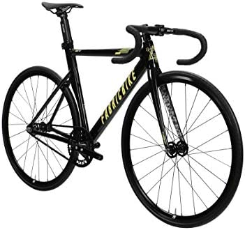 FabricBike Aero - Bicicleta Fixed, Fixie, Single Speed, Cuadro de Aluminio y Horquilla de Carbono, Ruedas 28