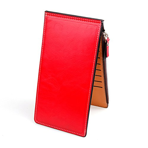Leather Slim Multi Card Organizer Wallet,Zipper Pocket Purse by Rekukos - Buy Online Gabbana And Dolce