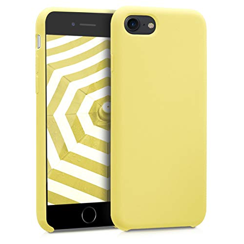 kwmobile TPU Silicone Case for Apple iPhone 7/8 - Soft Flexible Rubber Protective Cover - Yellow from kwmobile
