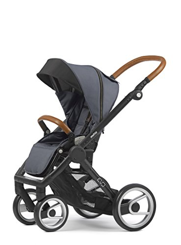 Mutsy Evo Industrial Edition Stroller, Grey with Black Chassis