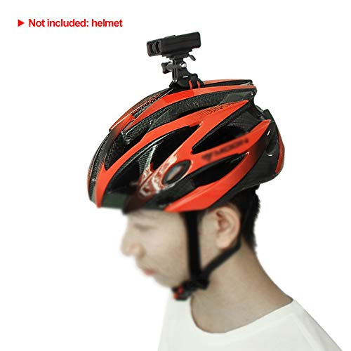 Mini Topside Bike Helmet Light Mountable on Handlebar Helmet with Integrated Flashing Red Tail Lights Daylight Road Biking Lightweight MTB Mountain Bicycle Headlight Blinkers for Night Trail Riding