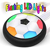 BamGo Floating Soccer Ball for Toddlers & Kids with Flashing Colored LED Lights – New Football Toy for Indoor | Battery Operated Air Hovering Disk for Children (Girls & Boys) | w/ eBook