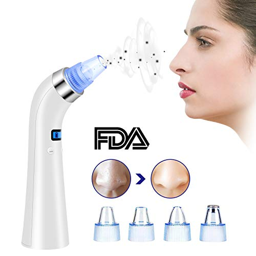 Blackhead Remover Vacuum, Comedo Removal Suction Removal Rechargeable Extractor Tool Set with 4 Multi-Functional Probe for Acne, Comedone & Facial Pore Clean (Blackhead Remover)