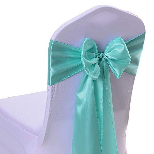 50PCS 17X275CM Satin Chair Bow Sash Wedding Reception Banquet Decoration #01 ()