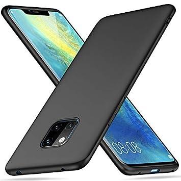 Peakally Funda Huawei Mate 20 Pro, Negro TPU Suave Funda para Huawei Mate 20 Pro Carcasa Flexible Ligero Fundas [Resistente a arañazos] [Ultrafina ...