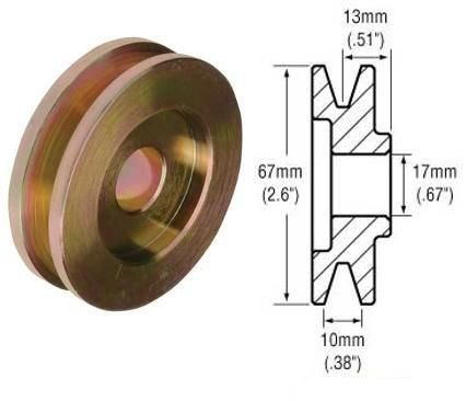 Machined pulley cut from cold rolled steel Single 1-Groove For GM Delco & Ford