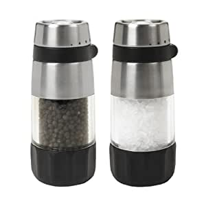 OXO Salt and Pepper Grinder Set, Black
