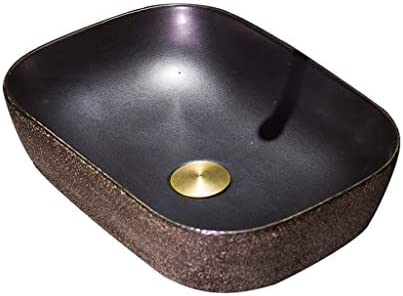 DS- 欧州セラミックカウンタ上記浴室洗面台、洗面化粧台のバスルーム(タップなし)レトロ技術の単一流域シンク、43X30X13cm 洗面ボール && (Size : 43X30X13cm)