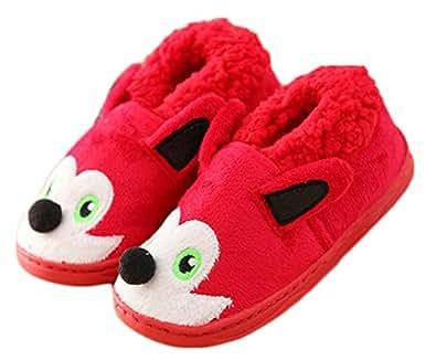 kids dog plush cute slipper house shoes bedroom slippers slippers