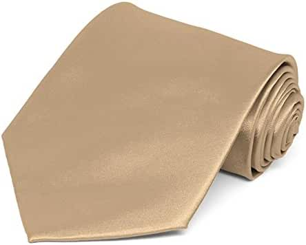 TieMart Bronze Solid Color Necktie