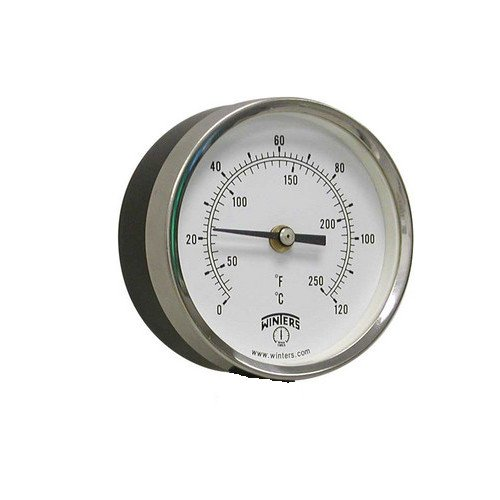 3-1/2 inch TBT Bi-Metal Back Mount Thermometer (0¡ãF to 120¡ãF) by Winters Instruments