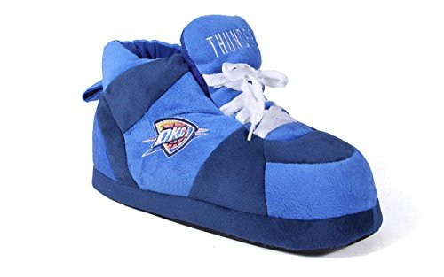 OCT01-3 - Oklahoma City Thunder - Large - Happy Feet Mens and Womens NBA Slippers