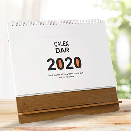 Tischkalender 2020 Jahresplaner Kalendergestell Aus Holz Bürokalender Kalender 25.525.53.5cm