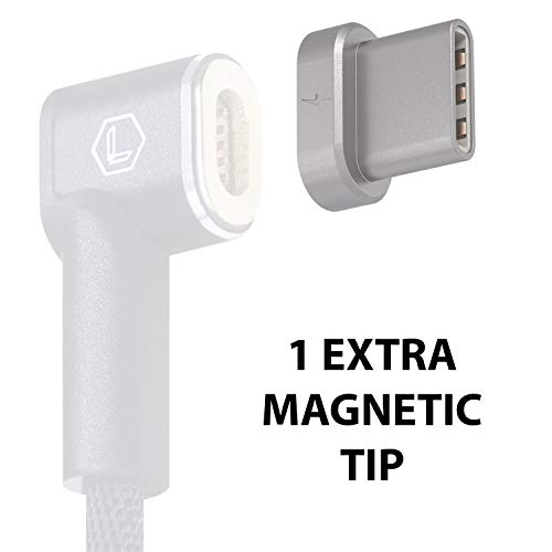 Extra Magnetic Tip-Adapter-Connector for Leonis USB-C Magnetic Charger Charging Cable Replacement for USB-C to MagSafe Adapter