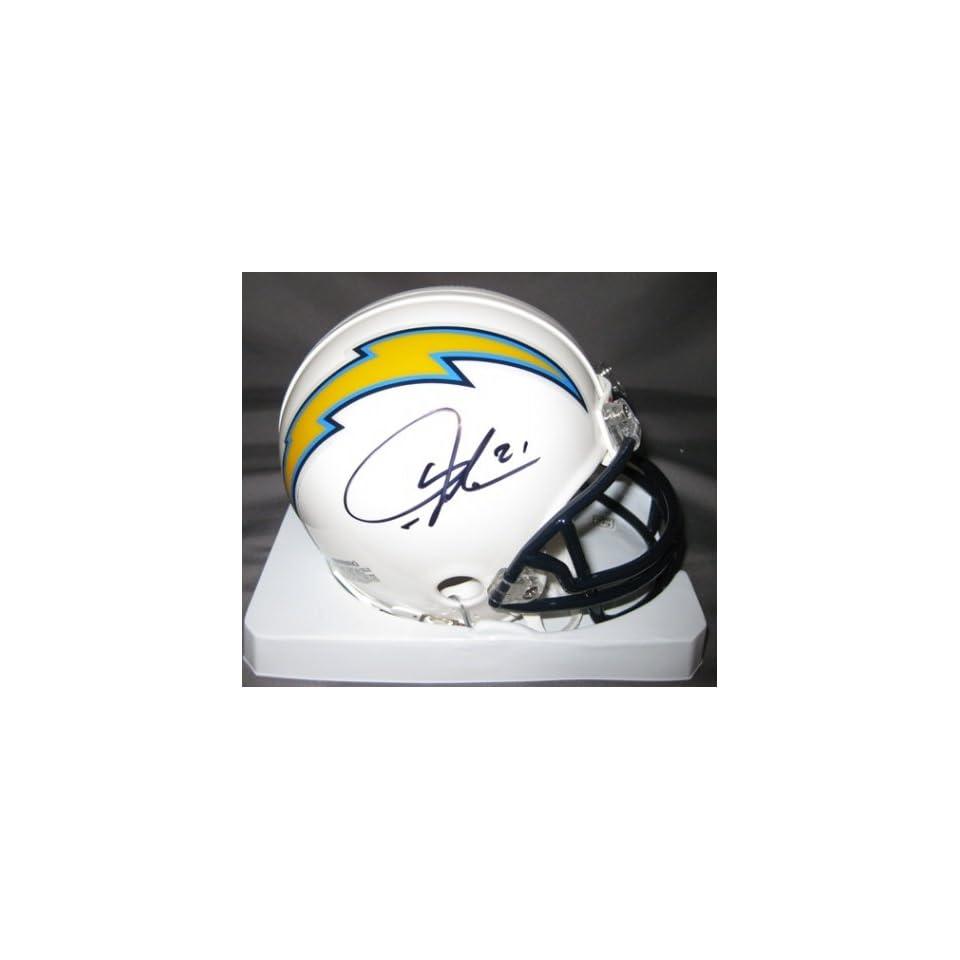 LaDainian Tomlinson San Diego Chargers NFL Hand Signed Mini Whte Football Helmet