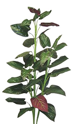 Wholesale Silk Floral Tall Red Elephant Ear Floor Plant (Un-Potted), 5'