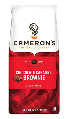 Cameron's Specialty Coffee, Chocolate Caramel Brownie, 12 Ounce, Whole Bean, Bag