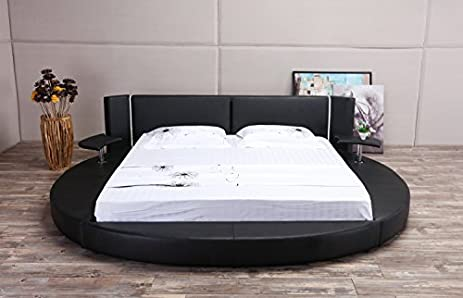 Amazoncom Oslo X Round Bed King Size Black Kitchen Dining