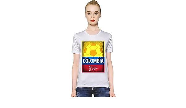 ... 2018 Football Colombia La Camiseta de Las Mujeres Women T-Shirt Girl Ladies Stylish Fashion Fit Custom Apparel by XX-Large: Amazon.es: Ropa y accesorios
