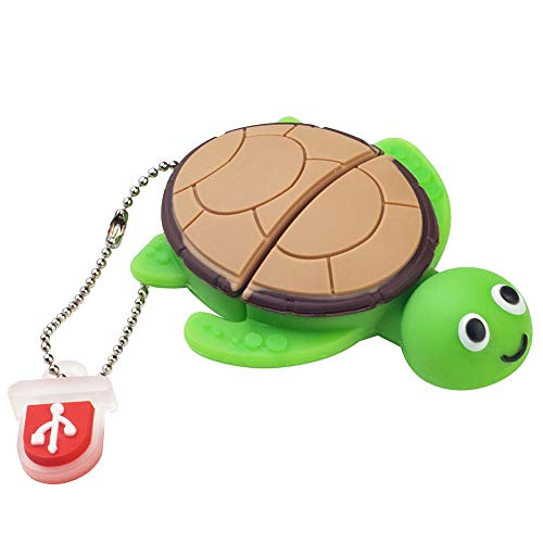 LEIZHAN Cute Flash Drive 16GB USB 2.0 Cartoon Animal Turtle Thumb Drive Character Computer USB Memory Stick Pendrive Gift for Kids, Teacher, Friends