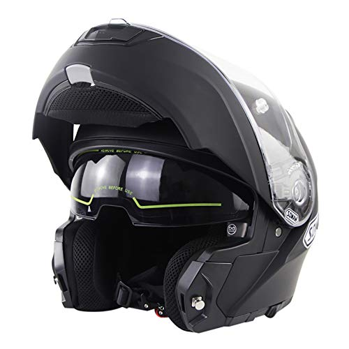 Klapphelm Motorradhelme,Modulare Helme Integralhelme Helme ECE-Zertifizierung Damen Und Herren Flip-up Motorrad Helm…