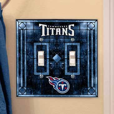 (Tennessee Titans Art Glass Lightswitch Cover (Double))