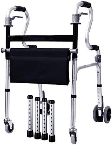 ウォーキングエイドウォーカー高齢者ウォーカー調節可能なウォーキング、ホイール付き折りたたみ式、アームレスト付き、高齢者用歩行補助