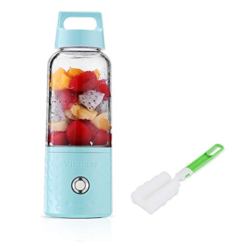 Huafly Portable Rechargeable Juice Blender, Household Fruit Mixer, Personal Blender 500ml USB Juicer Cup for Home, Outdoors and Travelling