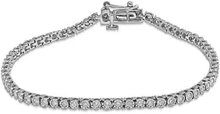 Diamond Jewel 10K Gold 1 CT TW Diamond Tennis Bracelet