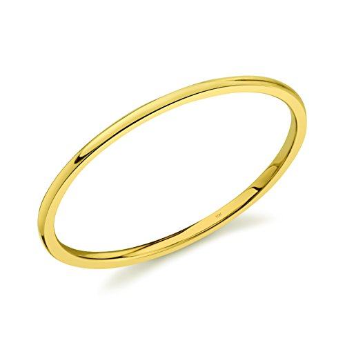 (10k Dainty Yellow Gold 1mm Thin Band Size 7)
