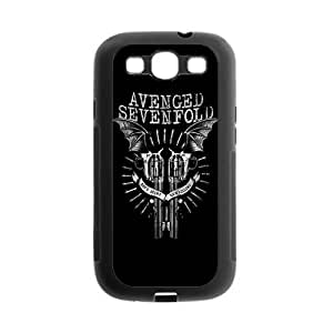 Masq Custom Rubber Back Fits Cover Case for Samsung Galaxy S3 S III I9300 - A7X Avenged Sevenfold by mcsharks