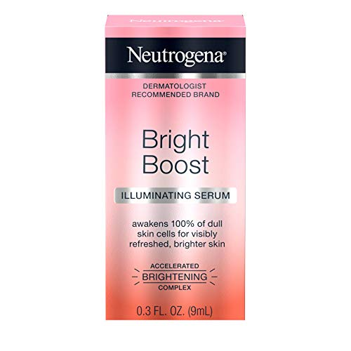 Neutrogena Bright Boost Illuminating Face Serum with Neoglucosamine & Turmeric Extract for Even Skin Tone, Resurfacing Serum for Face to Reduce Dark Spots & Hyperpigmentation, 0.3 fl. oz (Pack of 3)