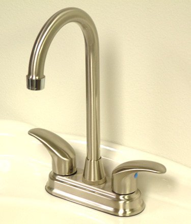 Two Handle Dual Tone Faucet by Kingston Brass